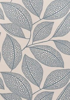 Pebble Leaf Wallpaper, Boathouse Blue - contemporary - wallpaper - MissPrint