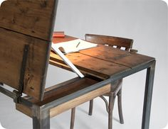 Barn door desk (cont.)