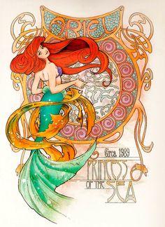 Art Nouveau Ariel