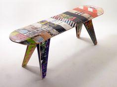 Me gusta la madera y la decoración que lleva en las tablas. SI están usadas, mejor.