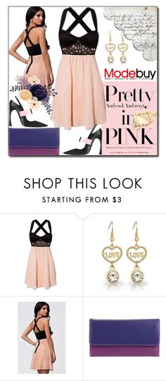 """""""Pretty in pink"""" by dorinela-hamamci ❤ liked on Polyvore featuring mywalit and modebuy"""