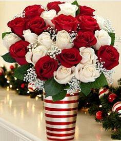 arreglos de navidad bonitos con plantas