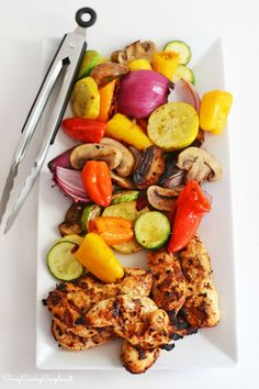 How to Make Grilled Rainbow Vegetables and Portuguese Chicken #WheresYourRhino #ad