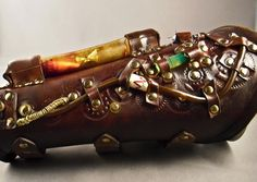 Steampunk leather bracer