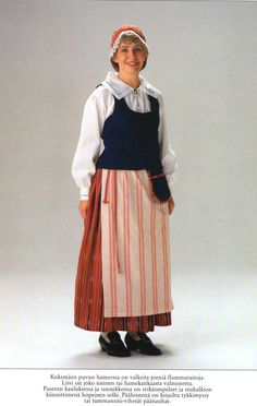 Kokemäki, Finland Folk Costume, Costumes, Folk Clothing, World Cultures, Folklore, Apron, Celebs, 7 Continents, Clothes