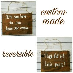 Items similar to funny ring bearer signs, flower girl signs, reversible, double sided Cool Gifts For Women, Diy For Men, Flower Girl Signs, Ring Bearer Signs, Rustic Wedding Signs, Wedding Ideas, Funny Mom Memes, Happy Birthday Funny, Porch Signs