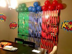 PJ Masks birthday backdrop