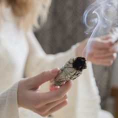 Sage smudging has become a popular wellness practice to help clear negative energy in a house. Learn about burning sage benefits and how to burn sage at home. Benefits Of Burning Sage, Sage Benefits, End Of Life Doula, Salvia Plants, Sage Smudging, Removing Negative Energy, Caucasian Woman, Life Care, Amethyst Crystal
