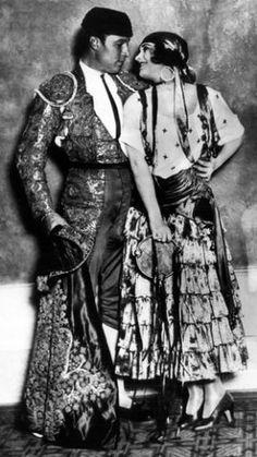 Rudolph Valentino with Pola Negri