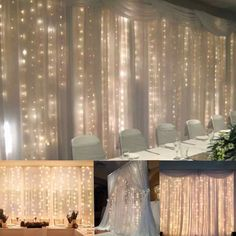 Amazon.com: FEFE® Crystal LED Lights 9.8ft*9.8ft 304 LEDs String Lights Decorating Holiday,Party, Wedding Curtain Lights: Arts, Crafts & Sewing