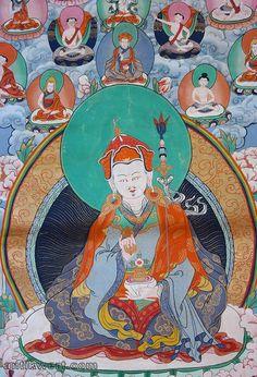 detail-darstellung vom padmasambhava-thangka
