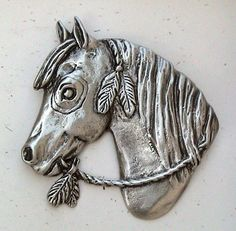 Horse Brooch Horse Jewelry Horse Pin by JudyVargasDesign on Etsy, $16.00