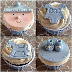 Baby boy  #cupcake #cupcakes #handmade #custommade #hembakat #sockerpasta #boy #baby #bebis #babyshower #christening #dop #blue #blå #göteborg #linné #gbgftw #fest #party