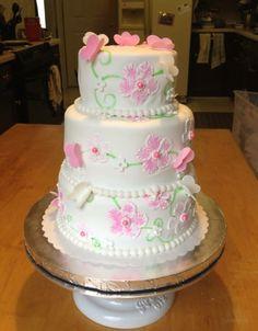 Birthday Cakes - Brush embroidery on fondant