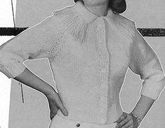 Fringed Shortigan knit pattern originally published in Sweaters, Doreen Knitting #109.