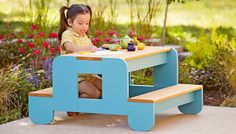 Build this pint-size kids picnic table in a weekend to let kids know they're special. This DIY project is perfect for your patio or yard.