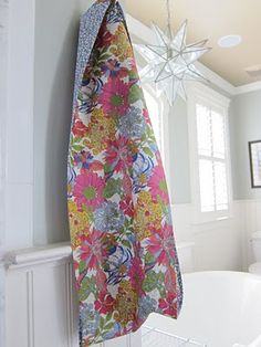 Liberty Mobius Scarf - 1/4 yard of two fabrics, a luxurious gift and great for those in milder temps.