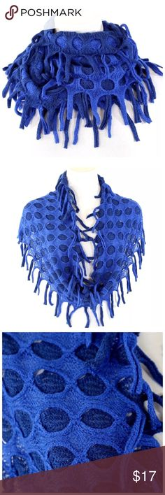"B4 Blue Textured Dual Knit Infinity Scarf ‼️ PRICE FIRM UNLESS BUNDLED WITH OTHER ITEMS FROM MY CLOSET ‼️   Fun & trendy!  65% cotton, 35% polyester.  Dress up even the most basic outfit!  Please check my closet for many more fashion items.  18"" long  15"" wide Accessories Scarves & Wraps"