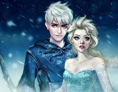 Jack Y Elsa, Jack Frost And Elsa, Jelsa, Disney Frozen Elsa, Disney Princess, Frozen Anime, Princesa Disney Jasmine, Sailor Moon Background, Pocket Princesses