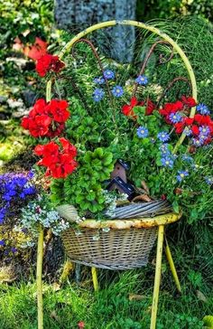 Great use for old baskets, love this!!