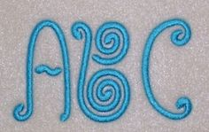 Embroidery Machine Alphabet Monogram Font Set 172. $6.50, via Etsy.