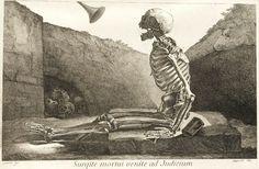'Arise, dead one, and come to Judgement.'    Illustration from Jacques Gamelin's 'Nouveau Recueil d'Ostéologie et de Myologie' - 1774