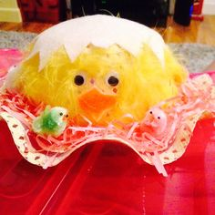 Hatching chick Easter bonnet