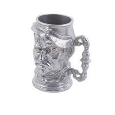 14 oz 6 inch H English Toby Old Man Tankard Pewter Glo Tags:  Cups; Pewter Glo/Sandstone; Aluminum Cast Cups;Aluminum Cast Silver Cups;Aluminum Cast Round Cups; https://www.ktsupply.com/products/32802337976/14-oz-6-inch-H-English-Toby-Old-Man-Tankard-Pewter-Glo.html
