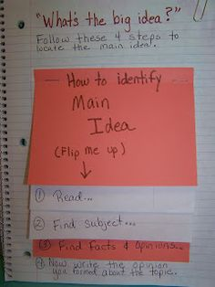 Reading Notebook foldables