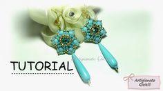 """Tutorial orecchini perline e swarovski """"Narciso"""" - DIY earrings"""