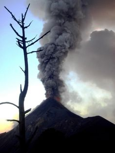 Fuego Volcano erupting, Guatemala