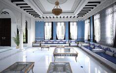 Mesmerizing Modern Moroccan style interior design - blue living area