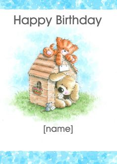 Birthday bear 2 by marek cakes cake decorating daily helloturtle birthday cards kitten puppy kennel personalised card personalise and send this birthday card to someone you care about same day despatch on bookmarktalkfo Images