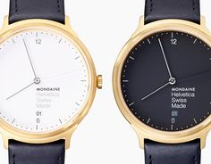 Swiss watchmaker Mondaine has released a watch dedicated to Helvetica, the iconic typeface designed in 1957 by Max Miedinger and Eduard Hoffman.