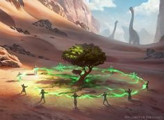 Illustration done for Magic the Gathering. Growing Rites of Itlimoc - Magic the Gathering Fantasy Concept Art, Fantasy Artwork, High Fantasy, Fantasy World, Fantasy Landscape, Landscape Art, Magic The Gathering, Mtg Art, Fantasy Places