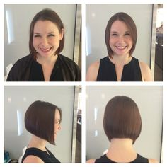 I used the razor and removed a lot of interior weight for this sleek smooth sexy bob.