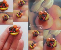 polymer clay fruits
