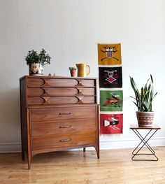 """Mid-century modern highboy dresser from Kent Coffey's """"Perspecta"""" line. Gorgeous walnut dresser with the signature rosewood arches. My Furniture, Vintage Furniture, Modern Vintage Homes, Mid-century Modern, Dream Decor, Mid Century Design, New Room, Home And Living, Home Furnishings"""