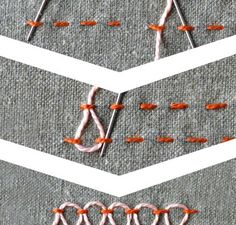 stepped running stitch tutorial