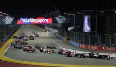 Salida del GP de Singapur
