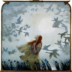 All Birds Shall Have Homes' out and away in the blue mist, off and gone in the gray haze.... 1928 by N. C. Wyeth