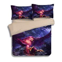3D Eagle brids bedding bed sets single double Fierce brutality duvet quilt cover king queen twin size kids bed linen bedspread #Affiliate