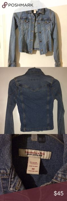 Abercrombie & Finch denim jacket Fitted and flattering cut with some stretch to it, like new. Abercrombie & Fitch Jackets & Coats Jean Jackets