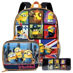 Minions Characters Kids Carry Backpack Set *** Want additional info? Click on the image.(This is an Amazon affiliate link)