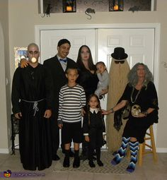 The Real Addams Family Costume - Halloween Costume Contest via @costume_works