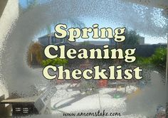 Spring Cleaning Checklist - Odd Jobs You Might Forget
