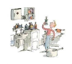 George's Marvellous Medicine - Quentin Blake Illustration