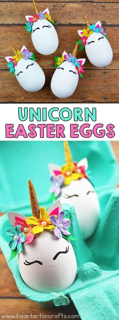 Unicorn Easter Eggs - I Heart Arts n Crafts