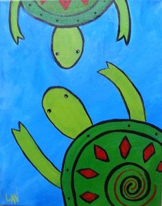 Turtles Friend Together, Group Of Friends, Big Little, Kids Events, Our Kids, Turtles, Painting, Animals, Art