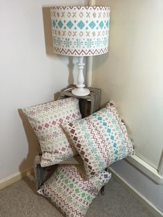Fair isle collection of cushions and lampshades   #cushions #lampshades #digitalprint #textiles #homestyle #countryhome